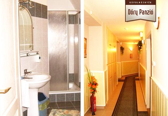 Dőry Panzió fürdőszoba és közlekedő